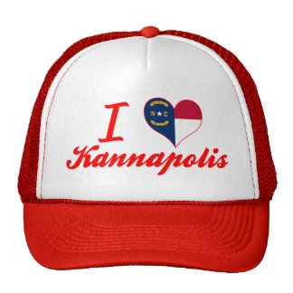 I Love Kannapolis, North Carolina Hats