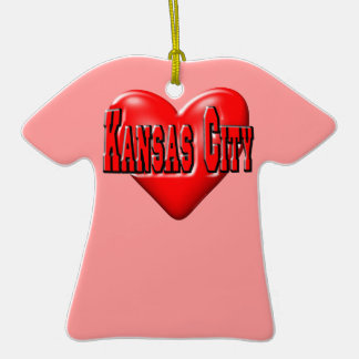 I Love Kansas City Christmas Ornament