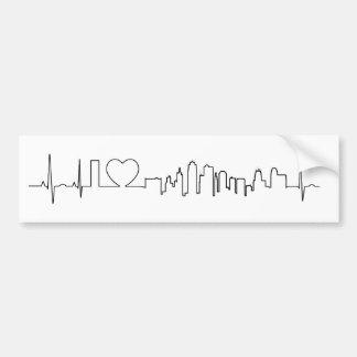 I love Kansas City in an extraordinary ecg style Bumper Sticker