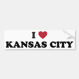 I Love Kansas City Kansas Bumper Sticker