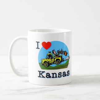 I Love Kansas Country Taxi Coffee Mug