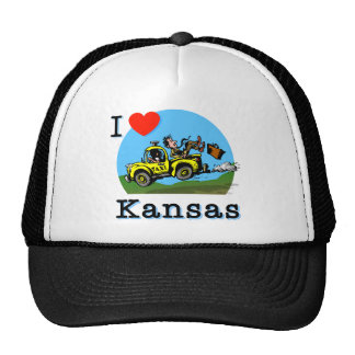 I Love Kansas Country Taxi Trucker Hat