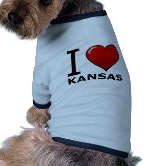 I LOVE KANSAS DOGGIE SHIRT