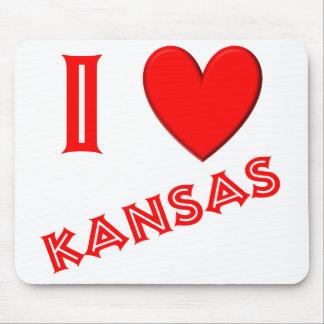 I Love Kansas Mousepads