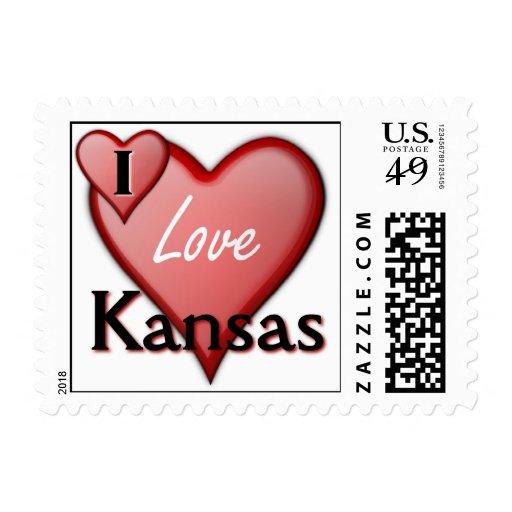 I Love Kansas Postage