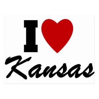I Love Kansas Postcard