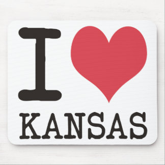 I Love Kansas - Products & Designs! Mouse Pad