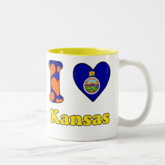 I love Kansas Two-Tone Coffee Mug