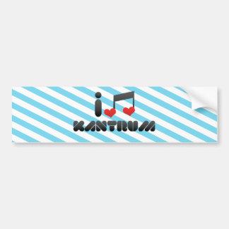 I Love Kantrum Bumper Stickers