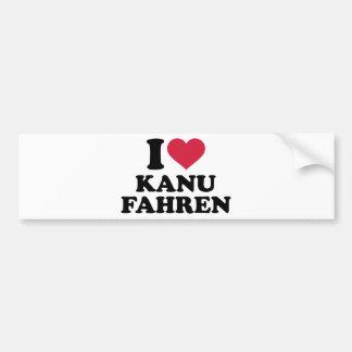 I love Kanu fahren Car Bumper Sticker