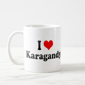 I Love Karagandy, Kazakhstan Classic White Coffee Mug