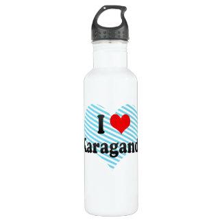 I Love Karagandy, Kazakhstan 24oz Water Bottle