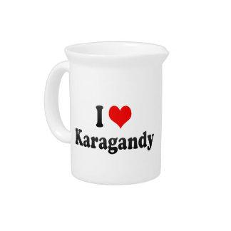 I Love Karagandy, Kazakhstan Beverage Pitcher