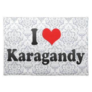 I Love Karagandy, Kazakhstan Cloth Place Mat