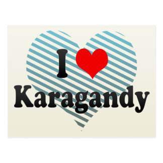 I Love Karagandy, Kazakhstan Postcard