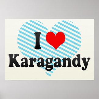 I Love Karagandy, Kazakhstan Poster
