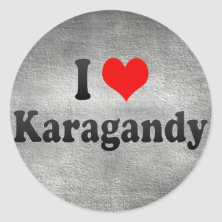 I Love Karagandy, Kazakhstan Classic Round Sticker