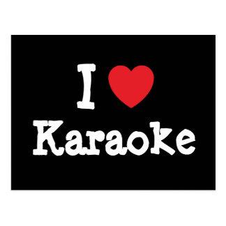 I love Karaoke heart custom personalized Post Cards
