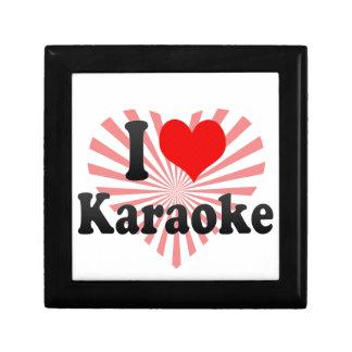 I love Karaoke Keepsake Box