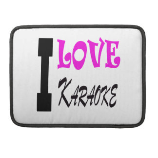 I Love Karaoke Sleeve For MacBooks