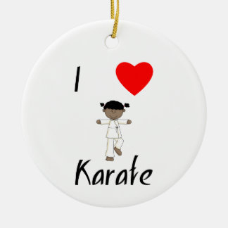 I Love Karate (2) Ceramic Ornament