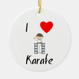 I Love Karate (3) Ceramic Ornament