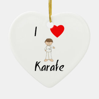 I Love Karate (4) Ceramic Ornament