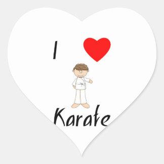 I Love Karate (4) Heart Sticker