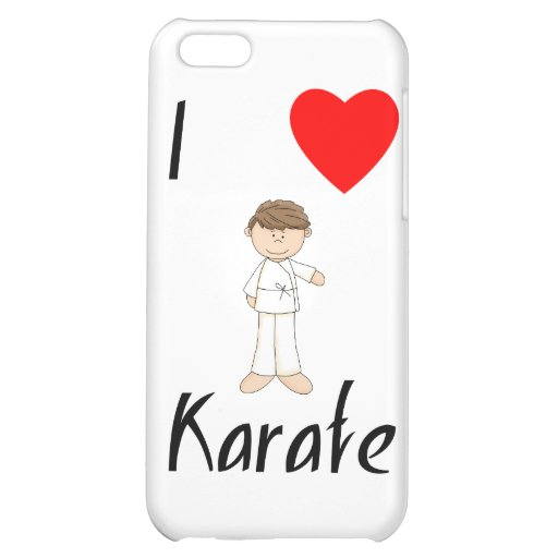 I Love Karate (4) Case For iPhone 5C