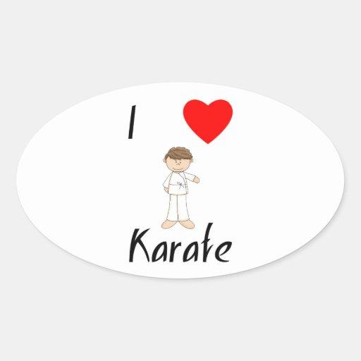 I Love Karate (4) Oval Sticker