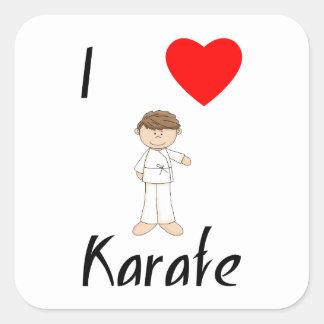 I Love Karate (4) Square Sticker