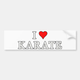 I Love Karate Bumper Sticker