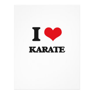 I Love Karate Personalized Flyer