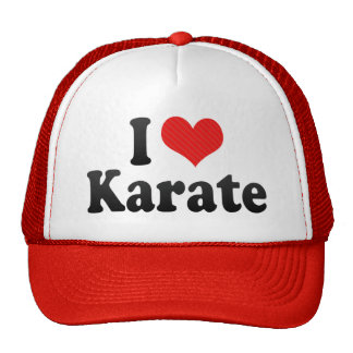 I Love Karate Mesh Hats
