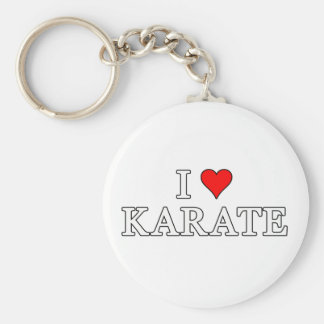 I Love Karate Keychain