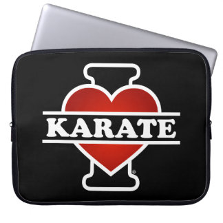 I Love Karate Laptop Sleeve