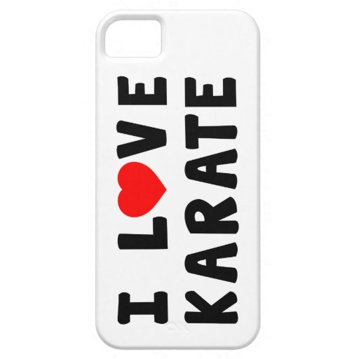 I Love Karate Martial Arts iPhone 5 Cover