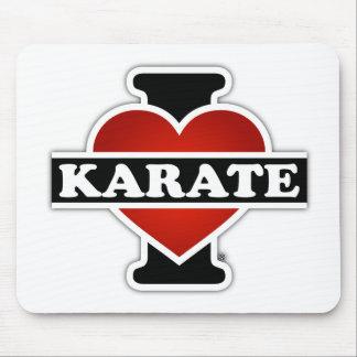 I Love Karate Mouse Pad