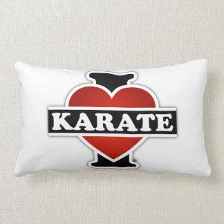 I Love Karate Throw Pillows