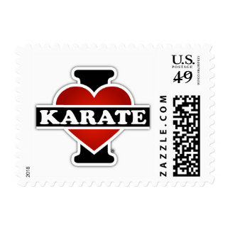 I Love Karate Postage