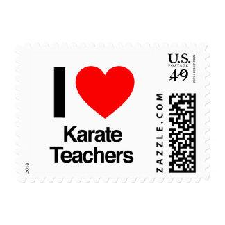 i love karate teachers postage stamp