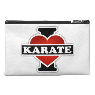 I Love Karate Travel Accessory Bags