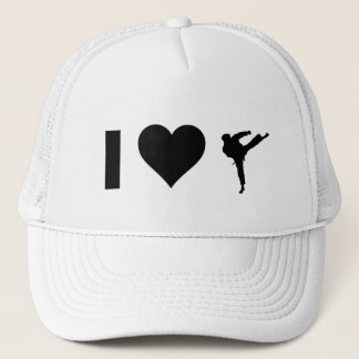 I Love Karate Trucker Hat