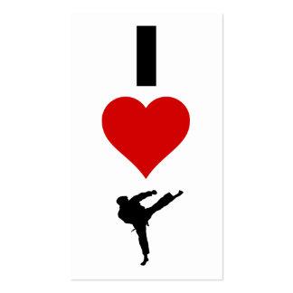 I Love Karate (Vertical) Business Cards
