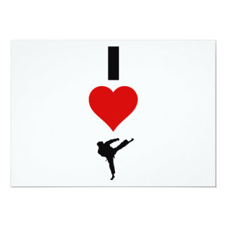 I Love Karate (Vertical) Card