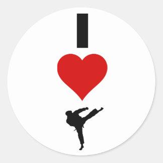 I Love Karate (Vertical) Classic Round Sticker