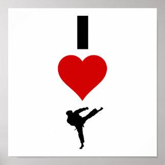 I Love Karate (Vertical) Poster
