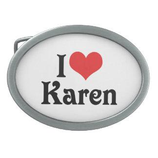 I Love Karen Belt Buckle