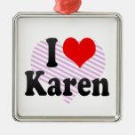 I love Karen Christmas Tree Ornament