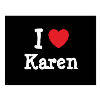 I love Karen heart T-Shirt Postcard